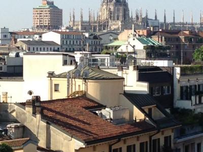 Via Senato 35, overlooking the Quadrilatero della Moda, 25 sq.m. studio on the 7th and top floor